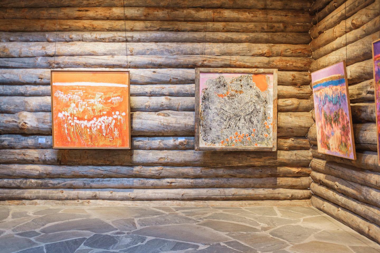 Paintings at the Saarestoniemi museum in Finnish Lapland