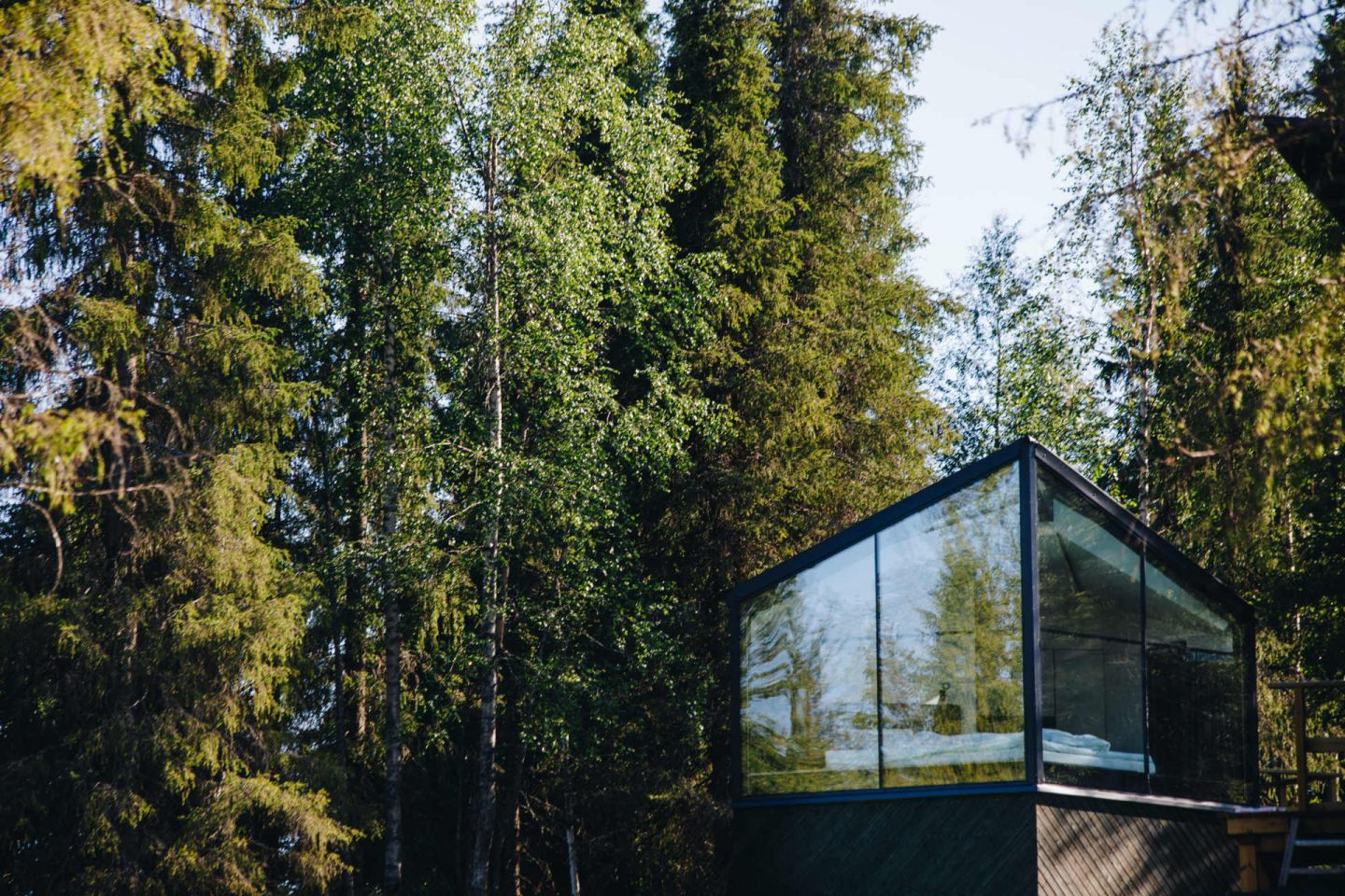 Magical Pond in Ruka-Kuusamo, Finland, a special summer accommodation in Lapland
