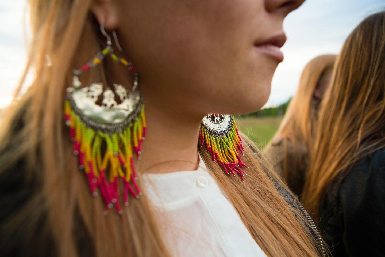 Sámi earrings from Finnish Lapland
