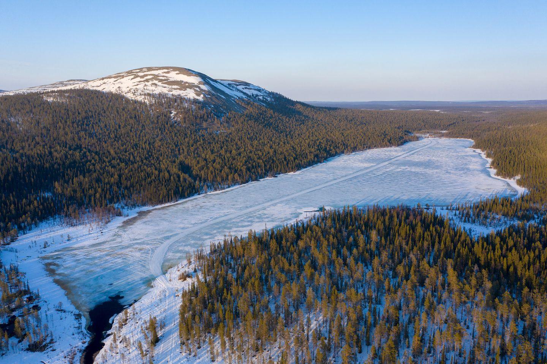 Lake Kesänkijärvi in Kolari, Lapland, Finland