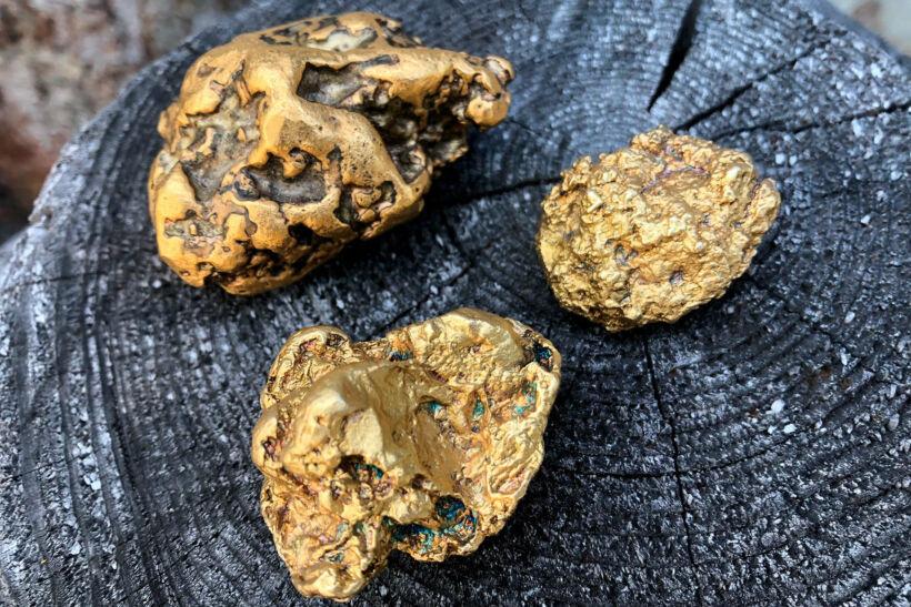 Gold found in Tankavaara, Sodankylä, Lapland, Finland