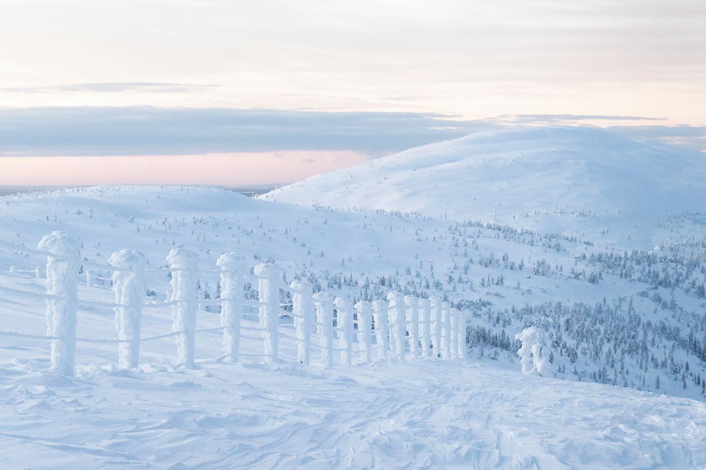 Winter in Pyhä, Pelkosenniemi, Lapland, Finland
