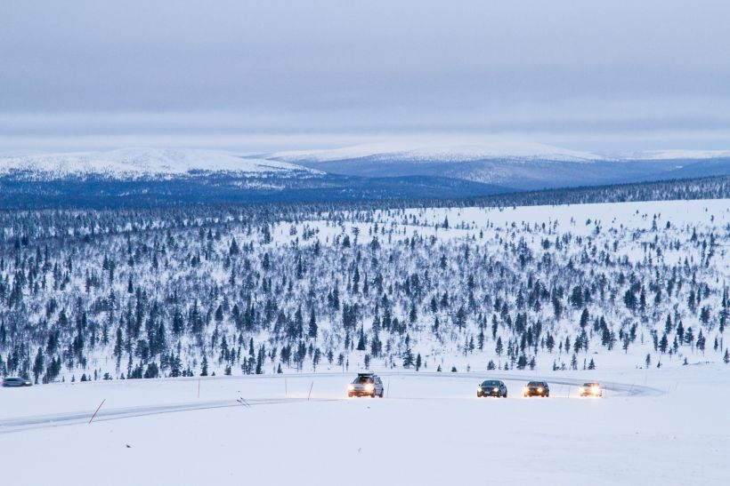 Road in Inari, Lapland, Finland