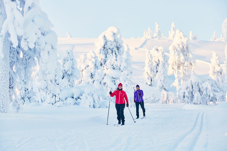Enjoying a snowy day in Pyhä-Luosto