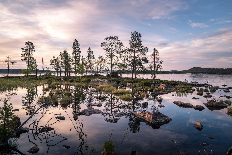 Ukonjärvi in Inari, Lapland, Finland