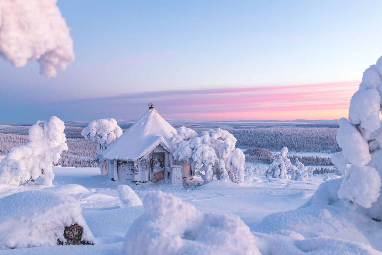 Winter, Sallatunturi Fell in Salla, Lapland, Finland