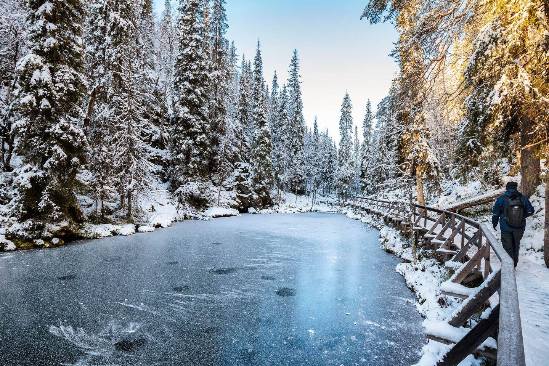 Icy water in Pyhäkuru
