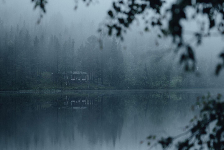 Misty summer in Kittilä, Lapland, Finland