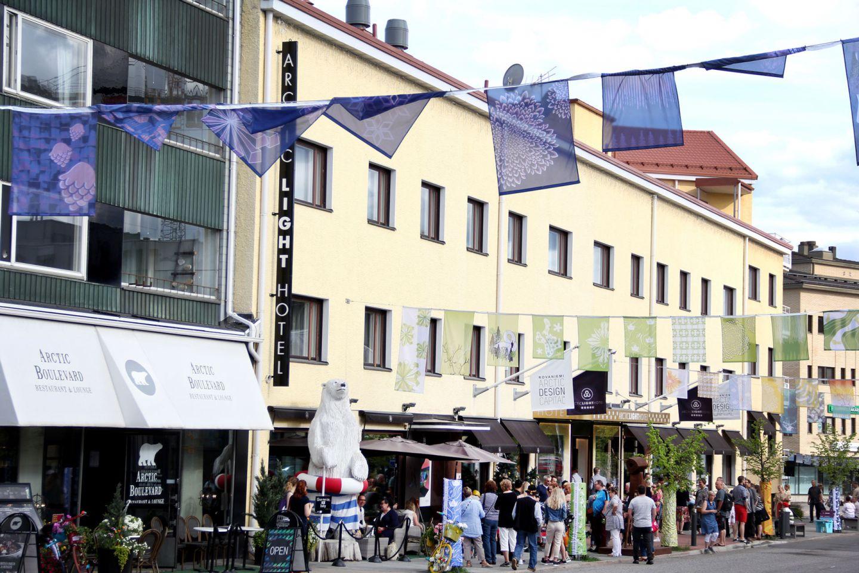 Art Street festival in the town of Rovaniemi, Finland