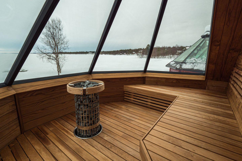 Aurora sauna in Inari-Saariselkä, Finland