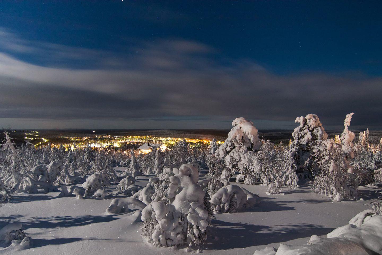 Winter and lights in Inari-Saariselkä