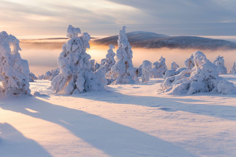 Winter in Levi, Kittilä, Lapland, Finland
