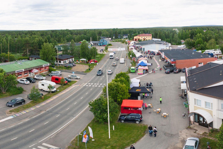Summer in the town center of Kolari, Lapland, Finland