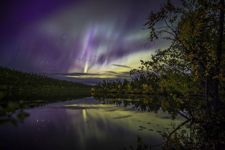 Northern lights in Inari, Finland