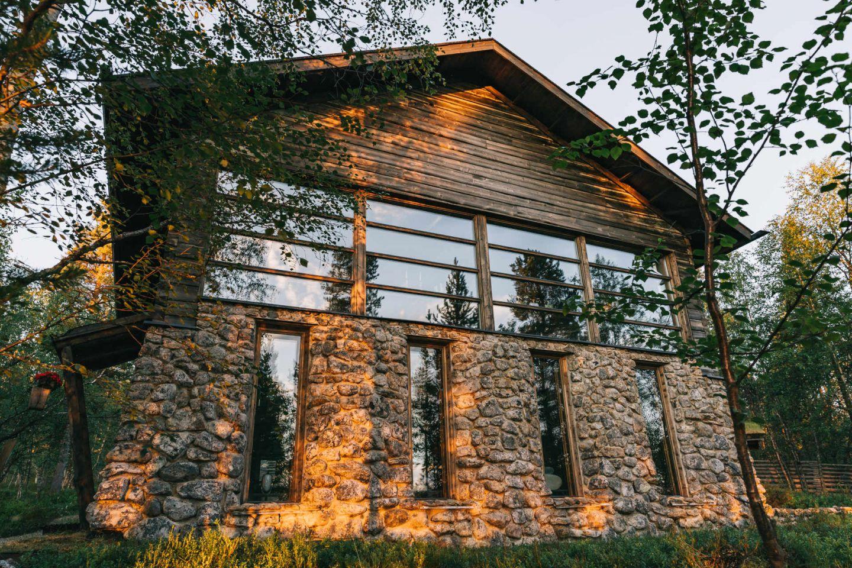 Exterior of the Design House Idoli in the village of Inari-Saariselkä, Finland