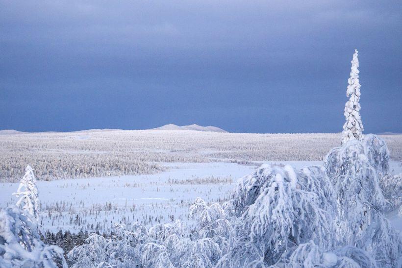 Winter in Savukoski, Lapland, Finland