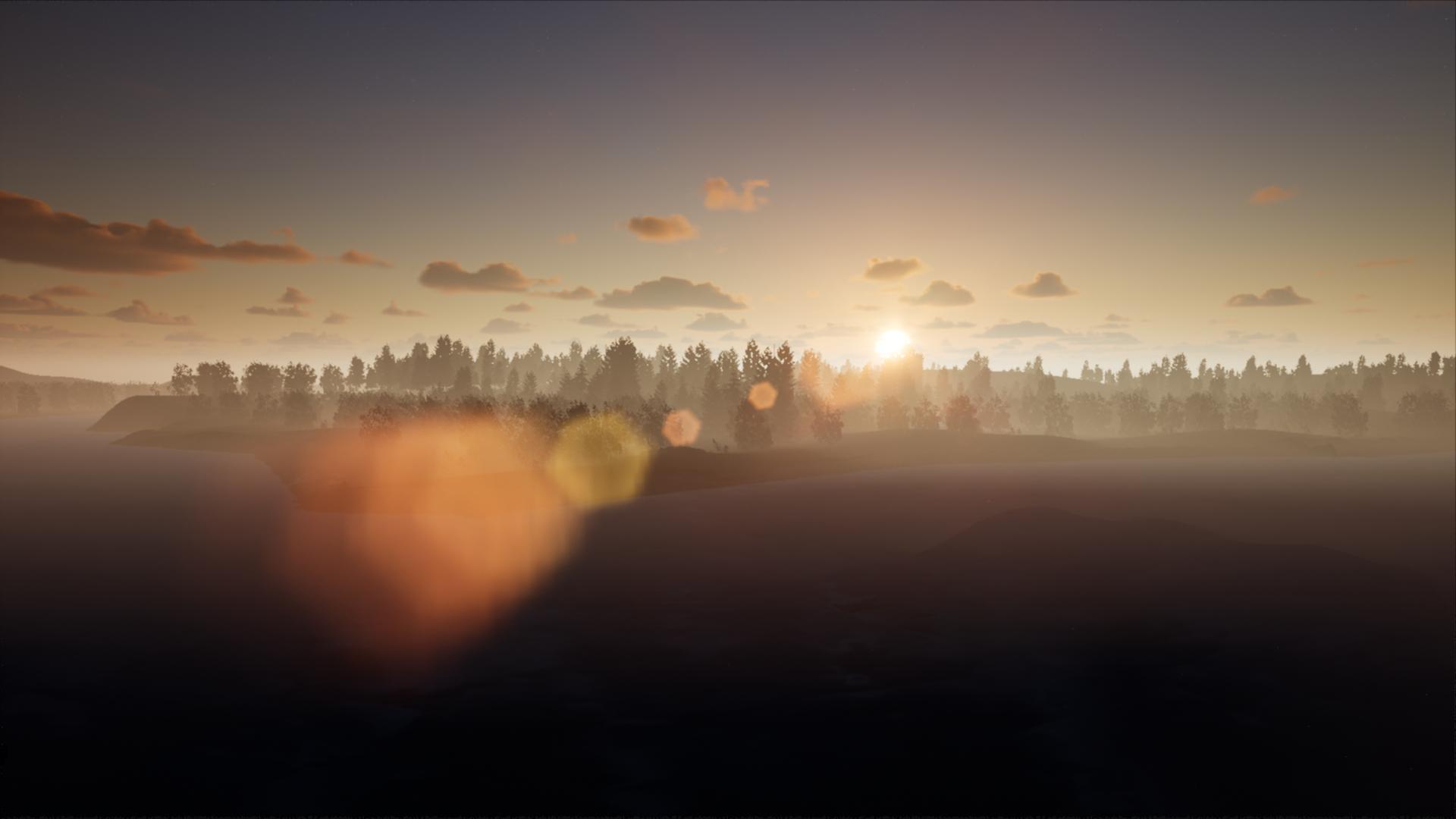 The Midnight Sun over Virtual Lapland