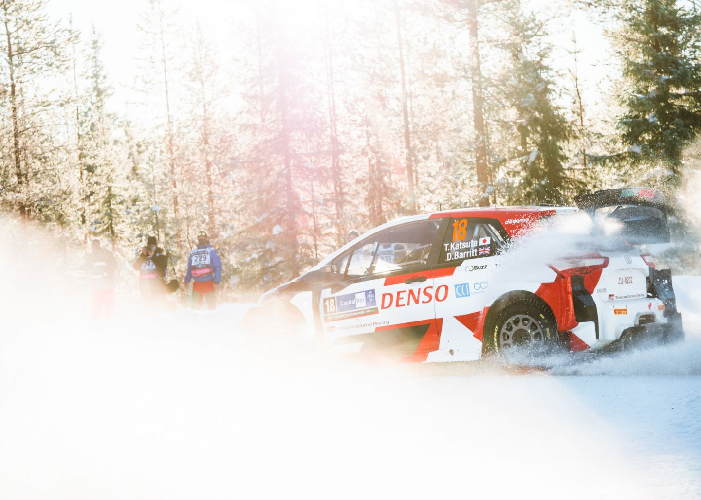 Arctic Rally Finland in the town of Rovaniemi