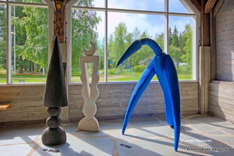 Art exhibit at the Puustelli Art Centre in the city of Kemijärvi, Finland