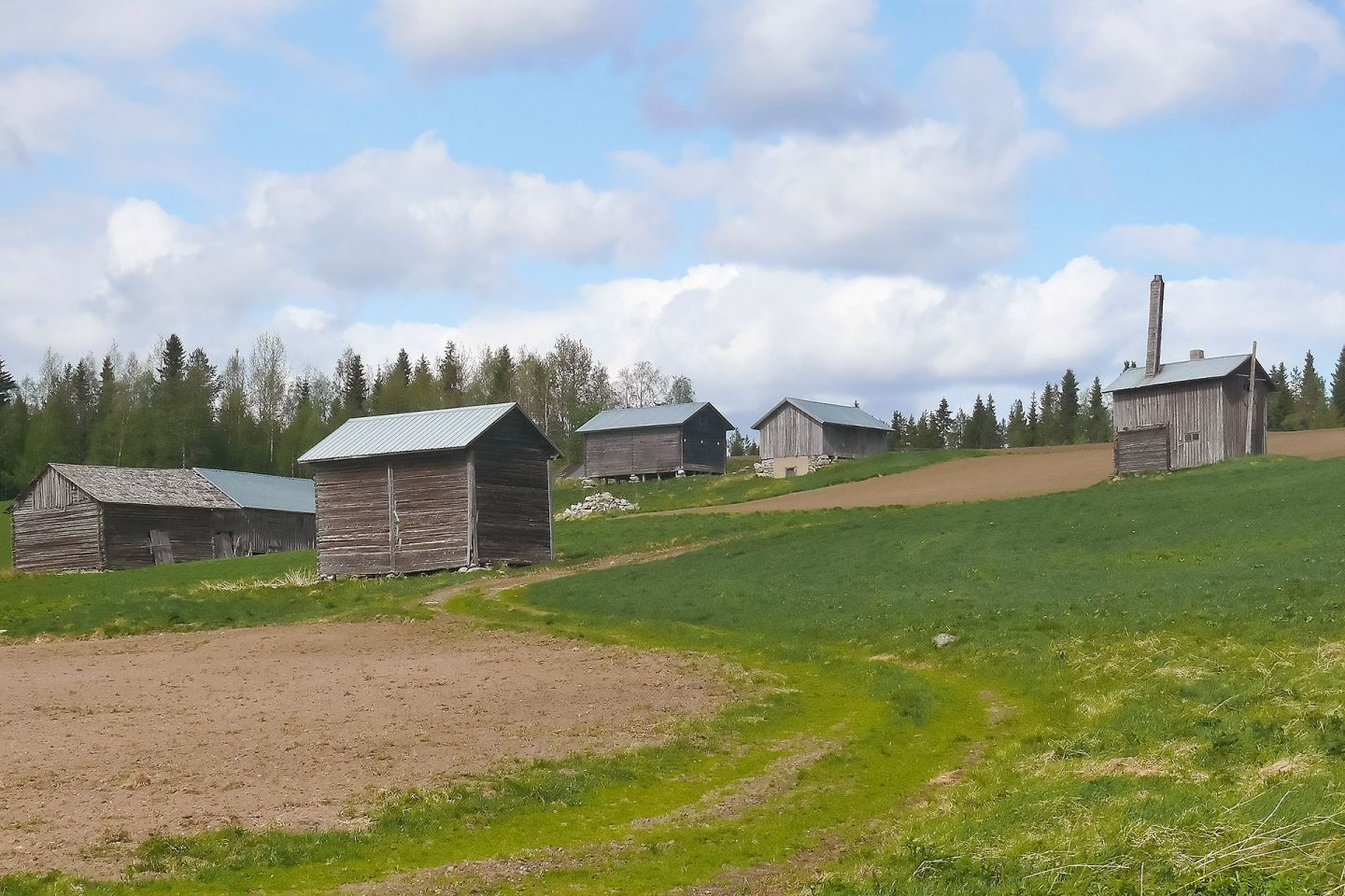 Countryside in Salla, Lapland, Finland