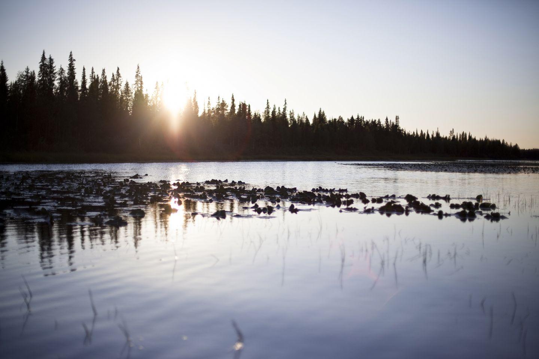 Jeesiöjoki River in Sodankylä, Lapland, Finland