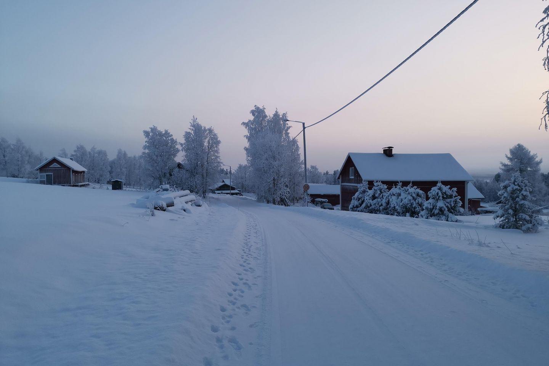 Winter in Sirniö, Posio, Lapland, Finland